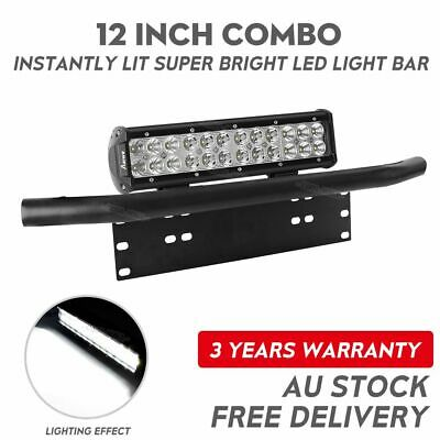 "12 inch 240W CREE Combo LED Light Bar + 23"" Number Plate Frame Mount Bracket"