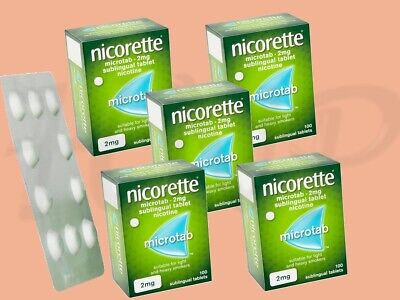 Nicorette Microtab 2mg Original 100 Tabs - 5 Pack  June-2021