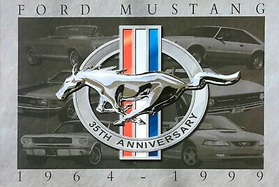 Mustang ford v8 pony tin metal sign man cave new garage