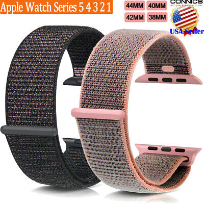 For Apple Watch Woven Nylon Sport Loop Band Strap Series 5 4 3 2 1 38/42/40/44mm