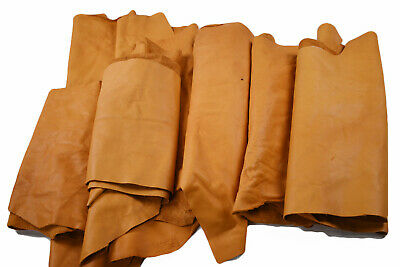 Cowhide scraps - Upholstery leather pieces 1 -2 sq ft | FULL GRAIN LEATHER