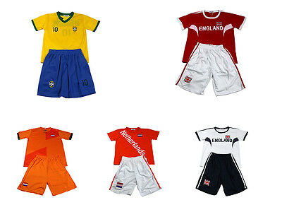 Boys Basketball Kids Vest Football Top & Shorts Girls Summer Set Kit 3-13 Y