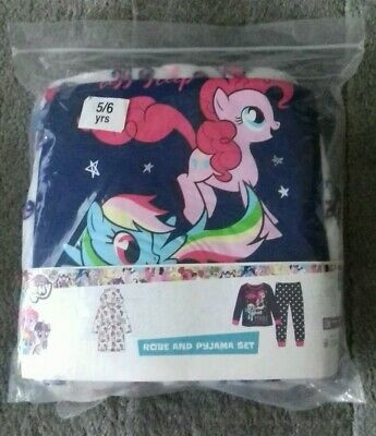 Girls My Little Pony Pyjamas and robe 5 6 Years New Great xmas gift!