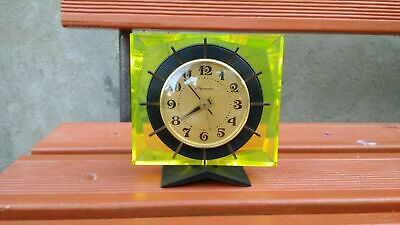 Antique Vintage Table Mantel Clock Mechanical Decorative art deco USSR Military