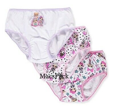 3 Pack LOL Surprise Doll Panties Girls' Size 4 or 8 100% Cotton Underwear