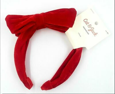 Cat & Jack Girl Baby Toddler Red Velvet Headband Bow Happy Valentines