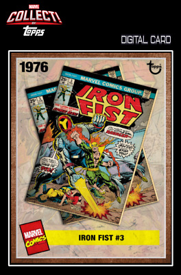 2019 TOPPS ARCHIVES WAVE 3 IRON FIST # 3 Topps Marvel Collect Digital Card