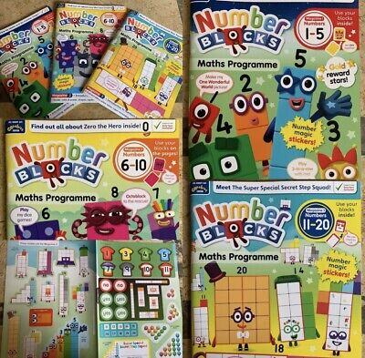 ⭐Numberblocks, Cbeebies Number Blocks 1-10 With 3D Face Stickers And Magazines