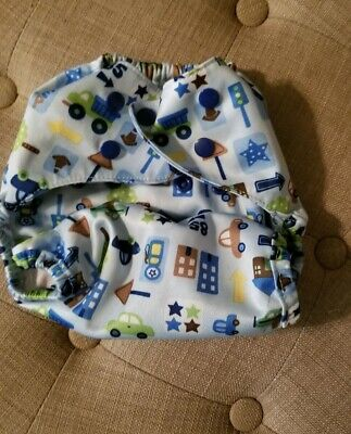 Boys Transportation Cars Diaper Cover Onesize
