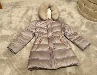 Girls Coat Age 7 by Ted Baker Girls Silver Padded Down Shower Resistant Coat