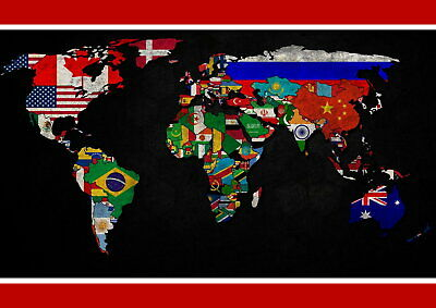 62664 MAP OF THE WORLD Wall Print POSTER UK