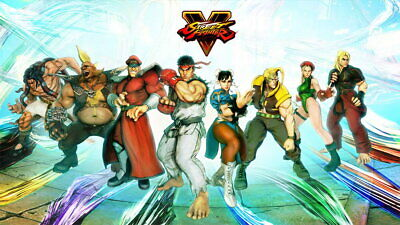 65002 Street Fighter - Fight Ryu Guile Ken ChunLi Game Wall Print POSTER UK