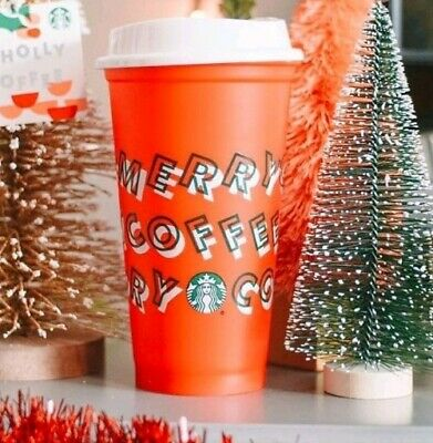 Starbucks Reusable Red Cup Christmas Holiday 2019 Merry Coffee Tumbler NEW