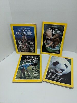Vintage National Geographic Magazine Lot of 4 Collectable 80's