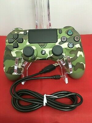 PS4 DualShock 4 Wireless Controller Green Camo Camouflage Controller w/ Cable