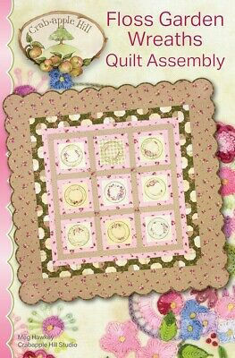 From Crabapple Hill Studio NEW FLOSS GARDEN WREATHS BLOCK 8 EMBROIDERY PATTERN