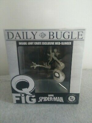 Loot Crate Exclusive New Daily Bugle Spiderman Web Slinger Marvel Q-Fig