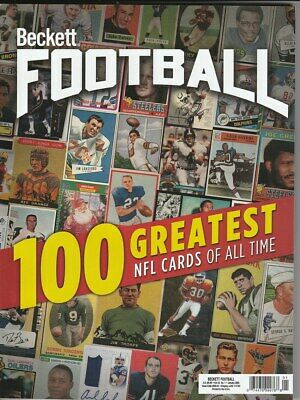 January 2020 Beckett Football Price Guide Magazine Vol 33 No 1 100 Greatest