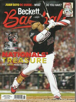 January 2020 Beckett Baseball Price Guide Magazine Vol 20 No 1 Juan Soto