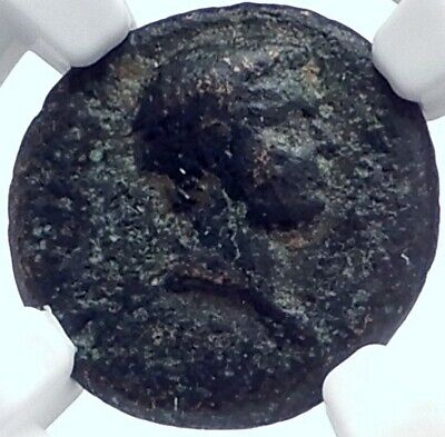 BRITANNICUS or NERO as Caesar Authentic Ancient 50AD Roman Coin NIKE NGC i81710