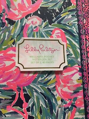 Lilly Pulitzer Fitness Wellness Pocket  Notebook. Set Meal & Activity Planner