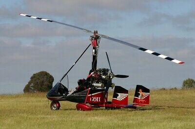 Gyroz 2 seat dual control Gyrocopter and custom aluminium trailer