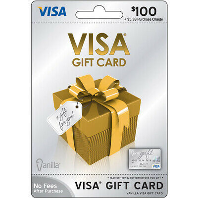$100 Vanilla Gift Card!! Ready to use! No additional Fees!