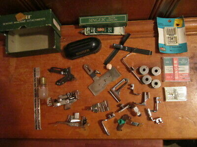 Vintage Singer Sewing Machine Attachments & Extras Model 15 Assorted Parts EUC