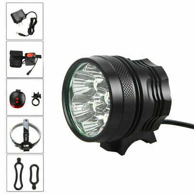 20000LM 7x XM-L T6 LED Bicycle Front Light Head Lamp Torch 12000mAh Battery Pack