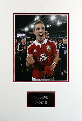 George NORTH Signed & Mounted 10x8 Photo AFTAL COA British Lions Rugby
