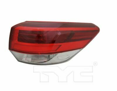TYC Right Side Tail Light Assy for Toyota Highlander Clear Lens 2018-2019 Models