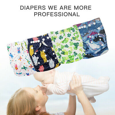 Baby Cloth Diaper Reusable Washable Adjustable Pocket One Size Nappy Cover US