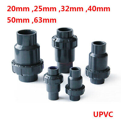 UPVC One Way Non Return Flap Check Valve Pipe Fittings I.D 20 25 32 40 50 63mm