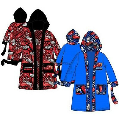 Boys Disney Cars Dressing Gown Kids Cars Bath Robe With Hood Age 3-8 Years