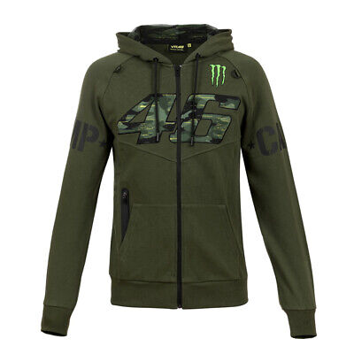 Valentino Rossi Hoodie VR46 MotoGP Monster Camp Edition Green Official