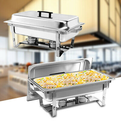 Stainless Steel Square Buffet Stove Dish Set Container Food Meal Chafer Furnace