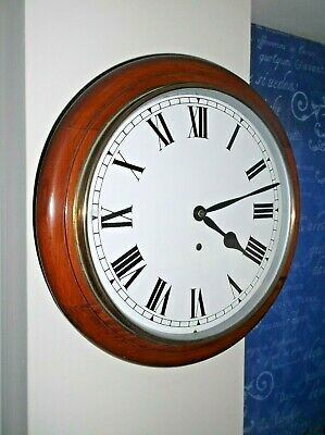 Superb Mahogany Dial Clock, Recently Restored & In Perfect Working Order.