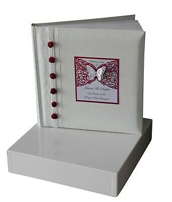 Large Boxed Traditional Wedding Album  Red Design Personalised gift