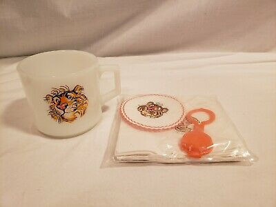 Vintage Exxon/ Esso Tiger Mug, Napkins, Coaster & Bottle Top Set, Unused Pieces