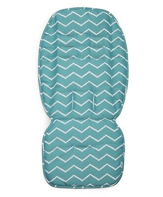 Mamas and Papas Duck Egg Blue Chevron Zig Zig Universal Pram Pushchair Liner