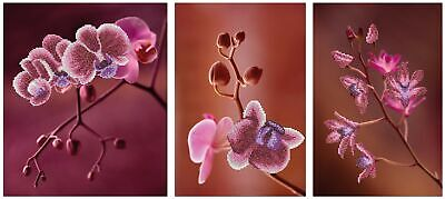 MINC11006 - Miniart Crafts - Pink Orchids Triptych Bead Embroidery Kit