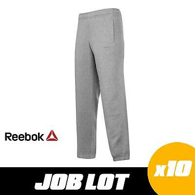 10 x JOB LOT Reebok Core Cuff Sweat Pants Mens Grey Tracksuit Bottoms