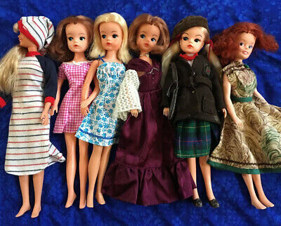Vintage Pedigree Sindy Dolls, Marie Doll, And Maxie Doll all sold nude LOT of 6!