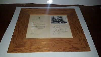 John Diefenbaker Prime Minister of Canada Signed Photo Correspondence 1971