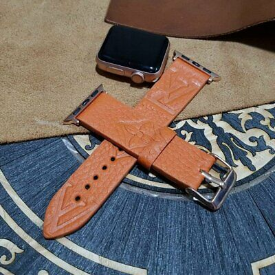 Apple iWatch Band, Apple Watch Band 42mm,Handmade Louis Vuitton Leather Watch