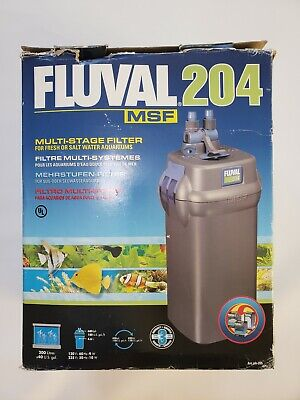 Fluval 204 Canister Filter 40 gal Multi-stage 680 LPH 180 GPH Quiet Operation