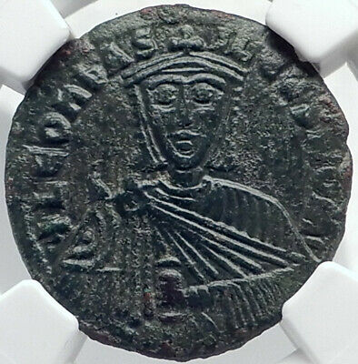 LEO VI the Wise BYZANTINE 886AD Authentic Genuine Large Ancient Coin NGC i81728