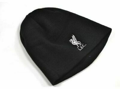 LIVERPOOL FC OFFICIAL liverbird Knitted Beanie Hat Black