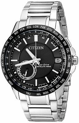 NEW Citizen Eco-Drive Mens CC3005-85E Satellite Black Dial Stainless Steel Watch