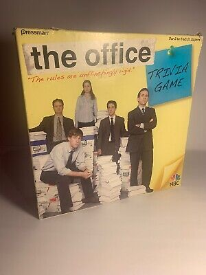 The Office Trivia Game Pressman NBC Hard To Find Incomplete